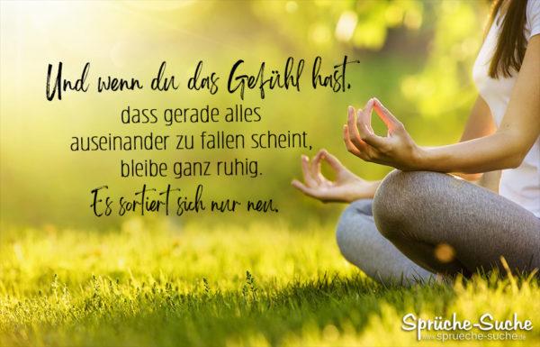 Spruch ruhig bleiben Yoga
