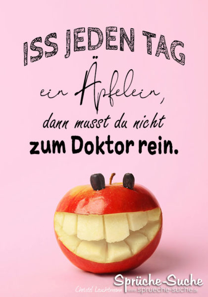 Apfel Doktor Spruch