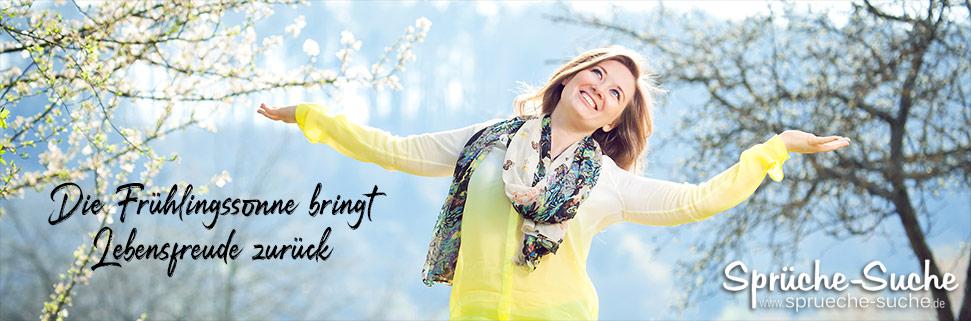 Frau im Frühling - Die Frühlingssonne bringt Lebensfreude zurück