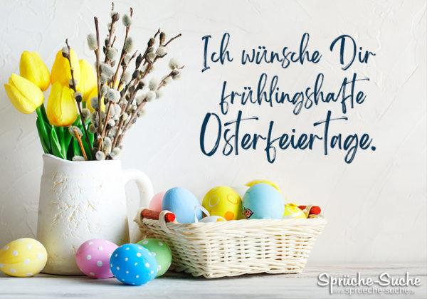 Grußkarte Ostern - frühlingshafte Osterfeiertage