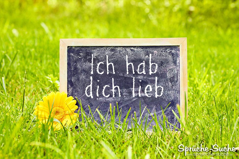 Ich hab dich lieb auf Tafel geschrieben