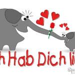 Ich hab dich lieb mit Elefanten