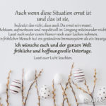 Ich wünsche euch und der ganzen Welt fröhliche und hoffnungsvolle Ostertage