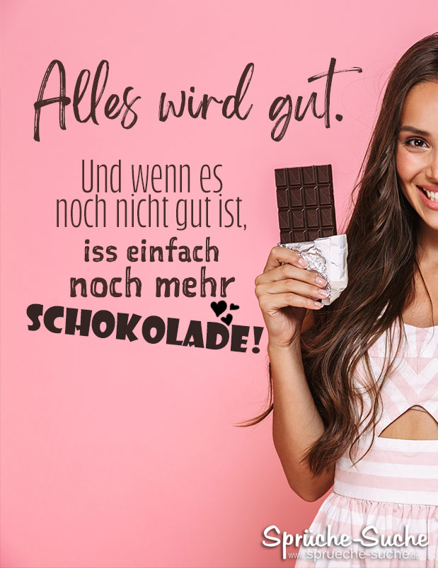 schokolade sprüche lustig