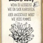 Lustiger Liebe ist Spruch - Sack Kartoffeln