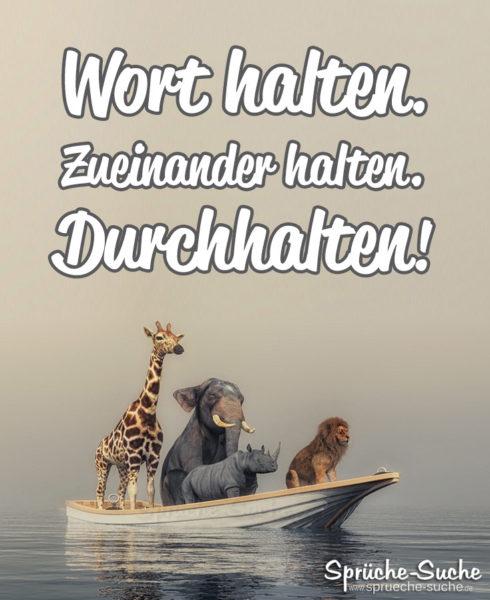Motivierender Durchhalte-Spruch mit Tieren