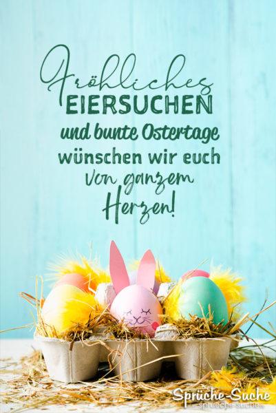 Ostern Sprüche - Fröhliches Eiersuchen und bunte Ostertage