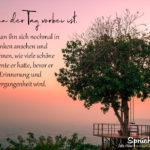 Schöne sprüche zum Nachdenken - Wenn der Tag vorbei ist