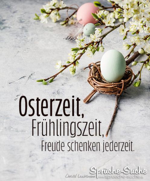 Schöner Spruch zu Ostern - Freude schenken jederzeit