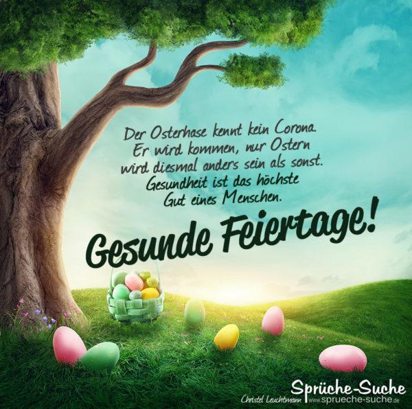 Spruch zu Ostern unter Corona