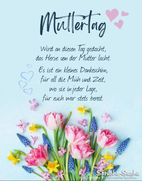Gedicht für Muttertag - Das Herze von der Mutter lacht
