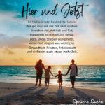 Familie am Strand - Gedicht zum Nachdenken über das Leben - Im Hier und Jetzt
