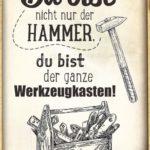 Hammer Spruch zum Danke sagen für Männer - der Werkzeugkasten