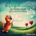Liebessprüche - Die Liebe gleicht einem Feuer