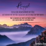 Mutgebender Spruch über Den Mut rauslassen und der Angst die Stirn bieten