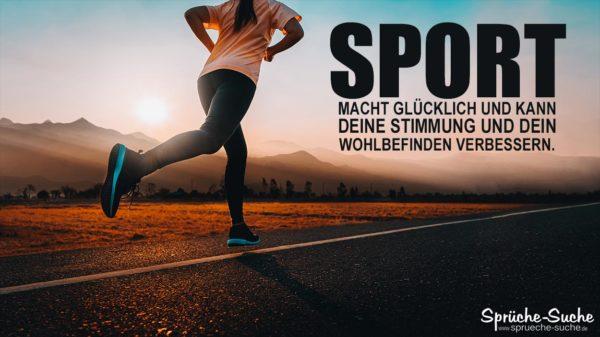 Sport macht glücklich Spruch