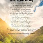 Spruch-Gedicht zum Nachdenken - Ich wünsche mir eine neue Welt