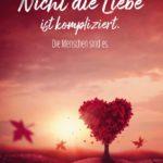 Spruch mit Herz - Die Liebe ist kompliziert
