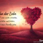 Baum in Herzform - Spruch über die Liebe