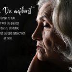 Spruch zum Nachdenken über das Älter werden