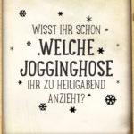 Lustiger Spruch Coroana zu Weihnachten - Die Jogginghose