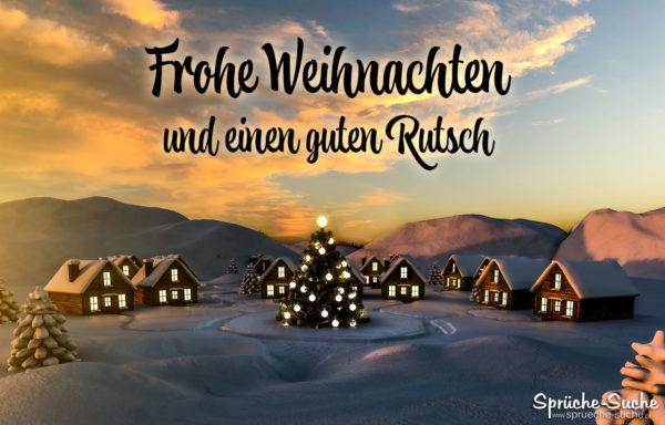 Weihnachtsgrüße - Frohe Weihnachten und einen guten Rutsch