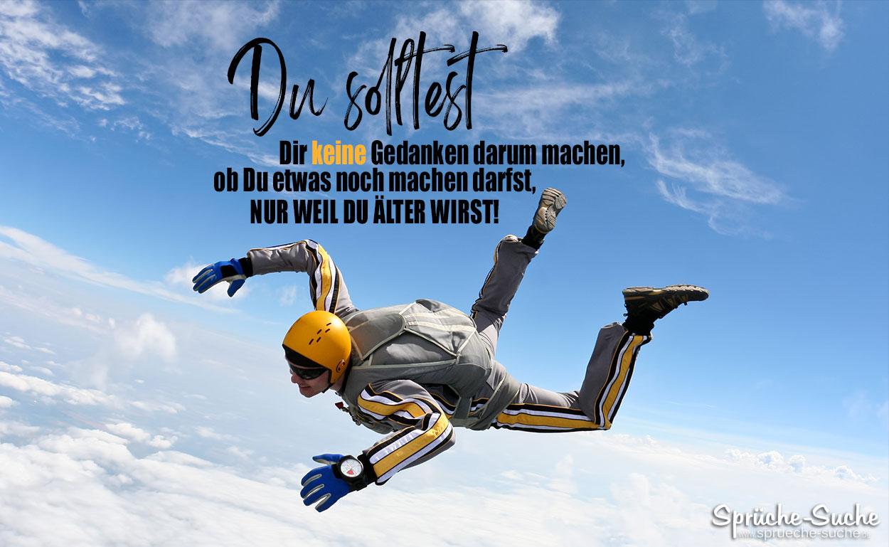 Fallschirmspringer - schöner Spruch fürs Leben oder zum Geburtstag