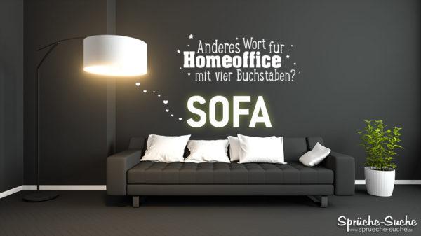 Homeoffice - Witziger Spruch für das Sofa