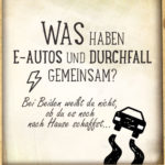 Lustiger Spruch E-Autos